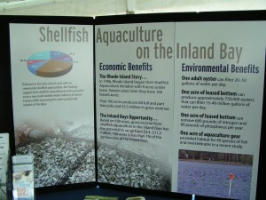 Center for the Inland bays display for the shellfish aquaculture projects