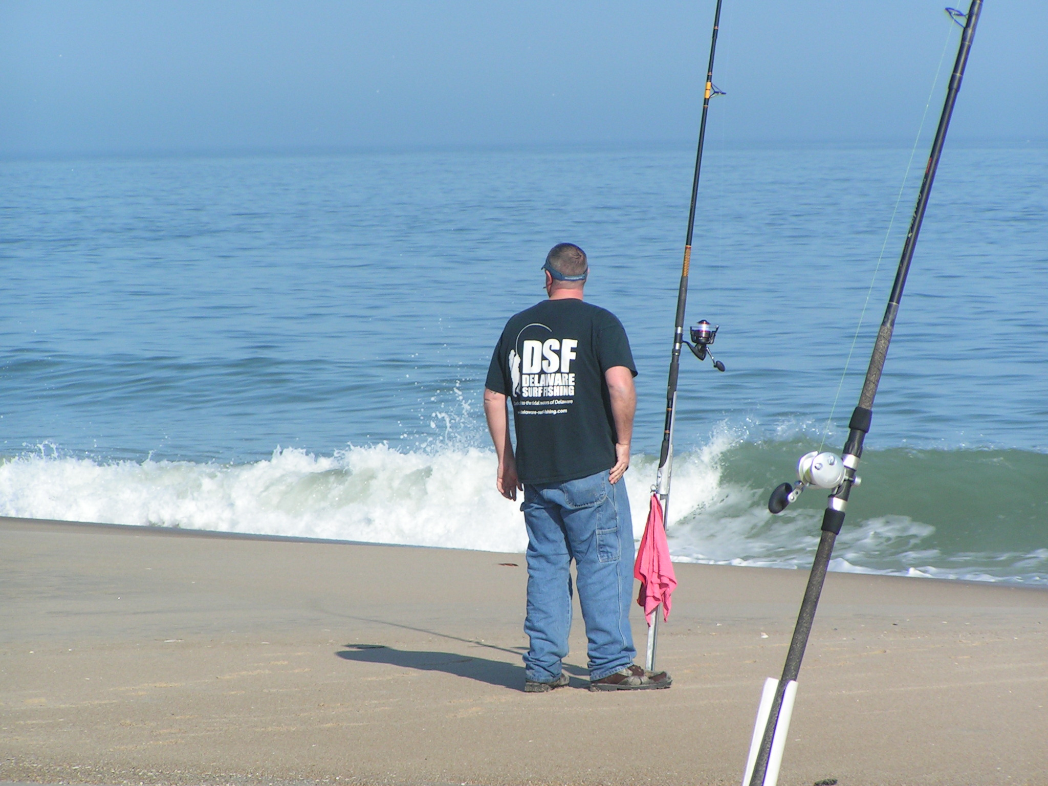 Delaware surf fishing is not just a job some days it is for Delaware surf fishing