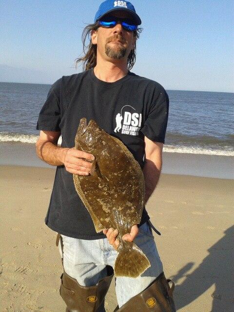 summer flounder, DSF, Beach Plum Island, delaware surf fishing, bunker chunkin