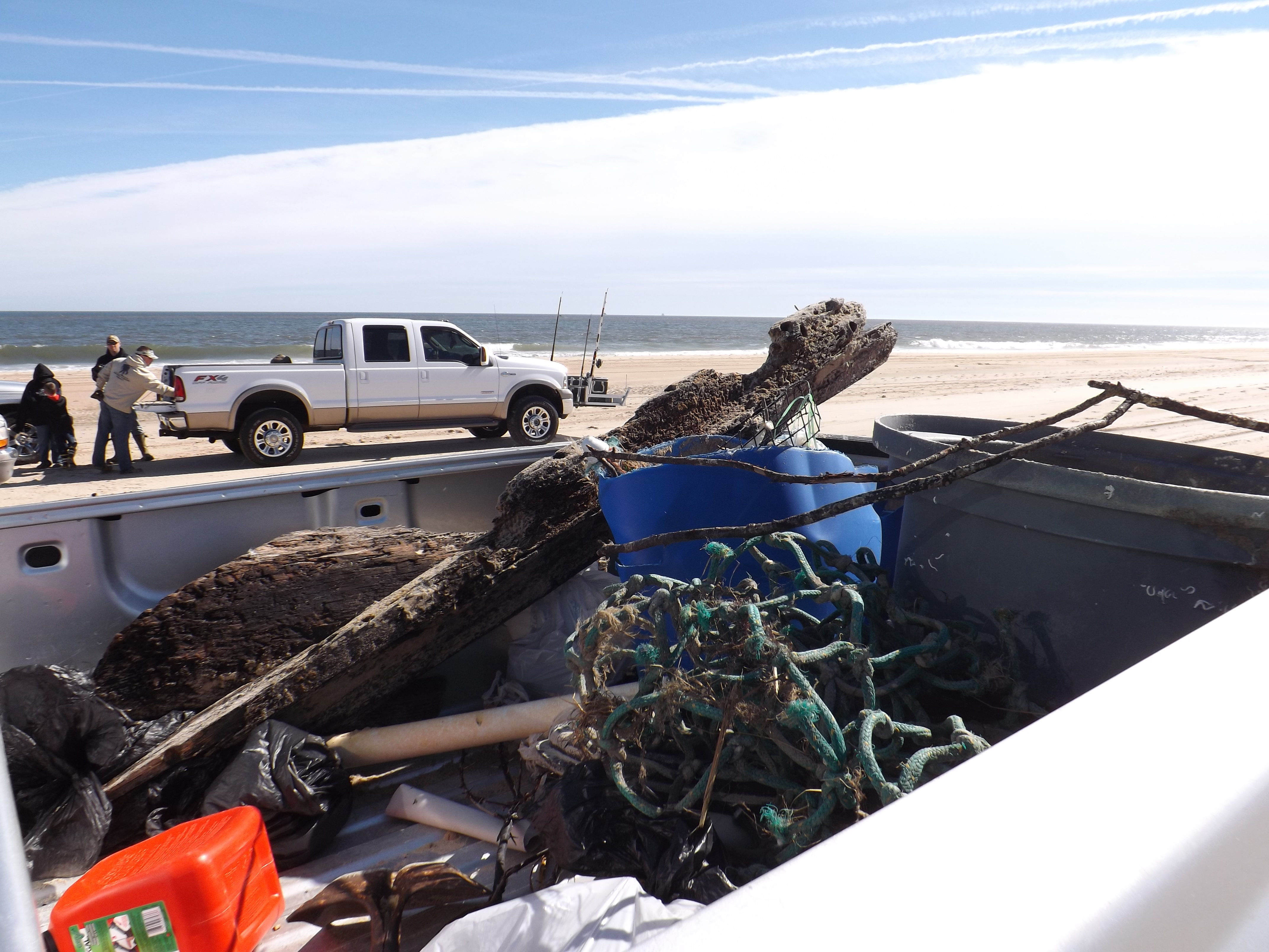 Beach clean up cape henlopen the point beach for Cape henlopen fishing report
