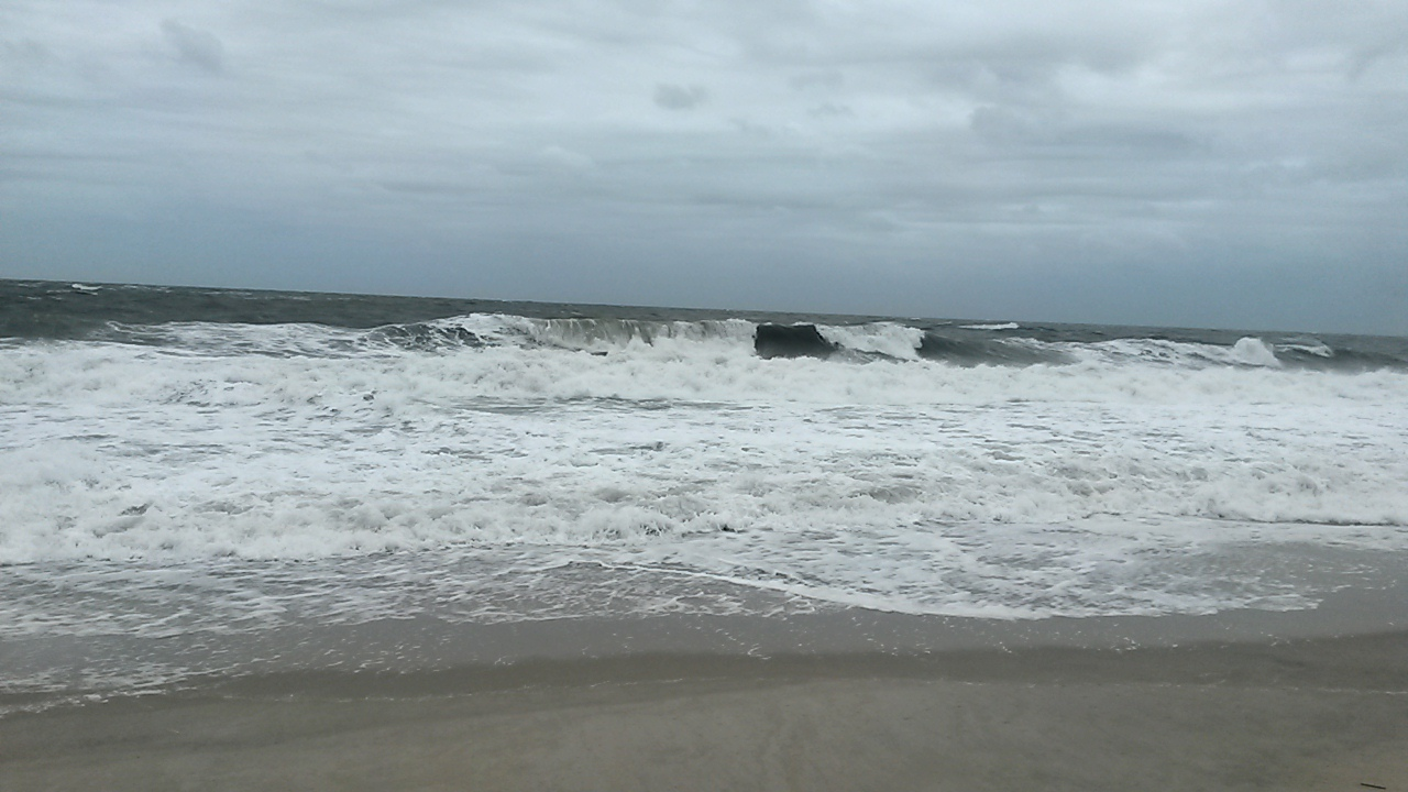Delawares first fall NorEaster   delaware surf fishingcom 98SmHgTu
