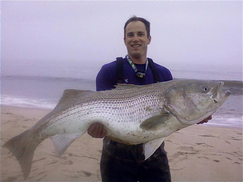 striped bass, delaware state record, Ben Smith, fall run