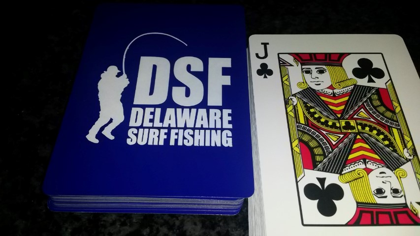 all species fishing tournament weekly card, delaware surf fishing, sussex county, playing cards, DSF