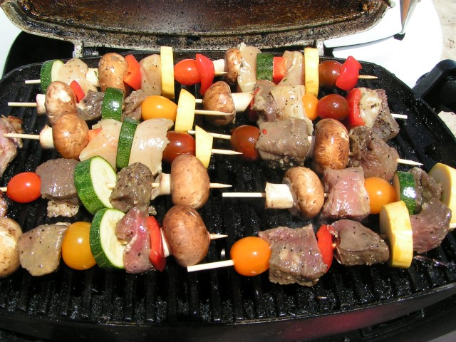 Shishkabob on the beach, DSF cooking show, killin n grillin, delaware cooking show, sussex county