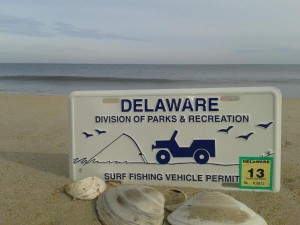Surf Fishing Vehicle Permit, delaware, sussex county, delaware state parks, DNREC