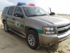 State Park vehicle on patrol