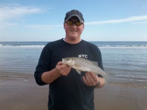 surf fishing,delaware, sussex county, Jordan Glatfelter, striped bass, beach fishing