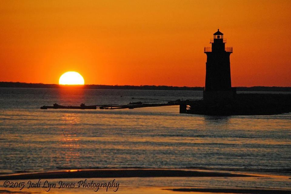 delaware sunsets, cape henlopne, harbor of safe refuge, breakwater light houses, sussex county