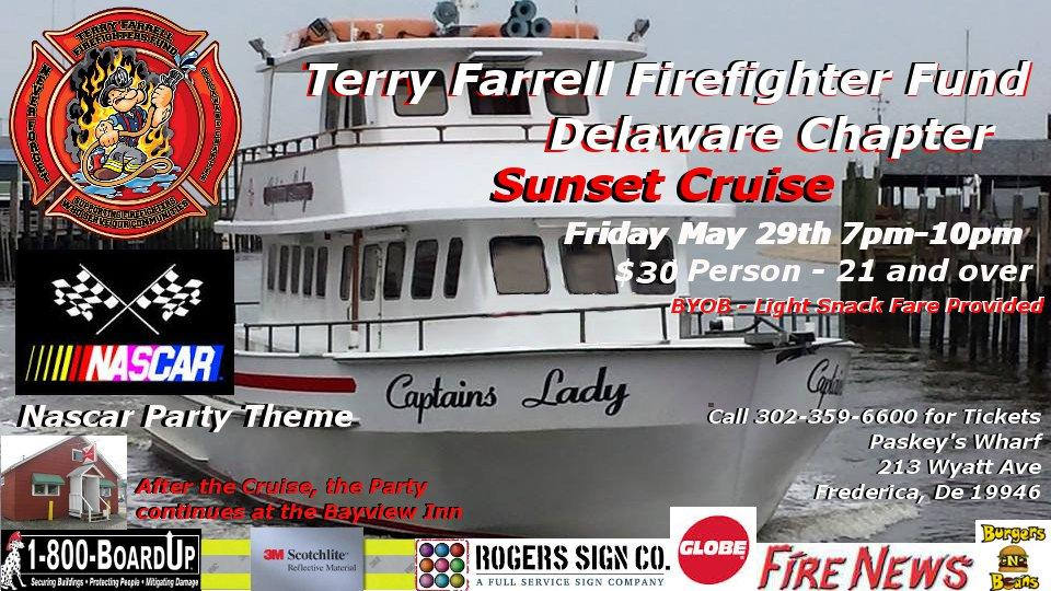 Terry Farrell Firefighters Fund of Delaware sunset cruise