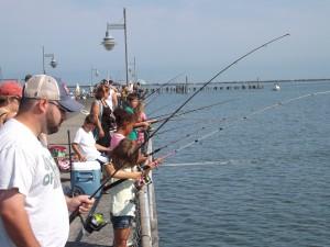 Kids Fishing Cape Henlopen pier last year