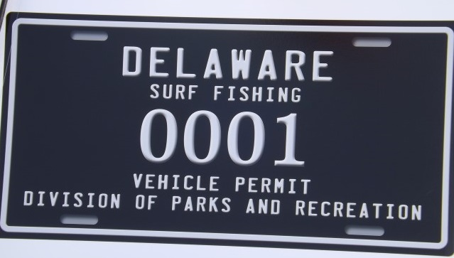 Delaware Surf Fishing numbered tags, ORV permits in delaware, sussex county, delaware state parks,