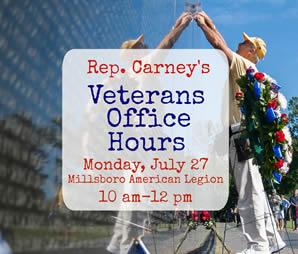 John Carney's veterans office hours