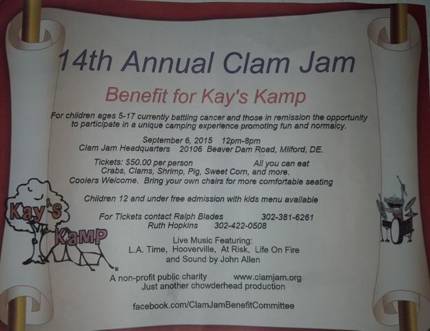 14th annual clam jam flyer