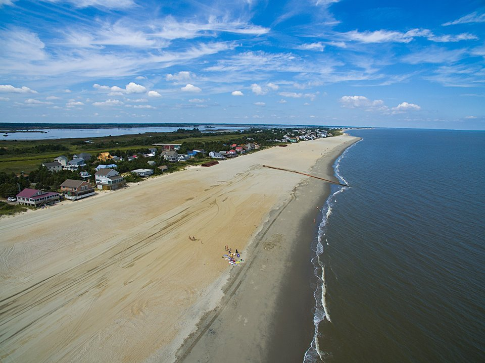 broadkill beach replenishment project, sussex county, delaware bay, new beaches, barrier island restoration