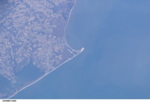 the point, cape henlopen state park, delaware, nasa, susssex county, international space station, ISS, as seen from space