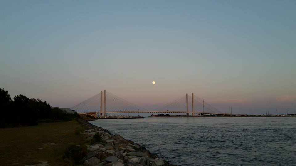 full moon, perigee moon, sturgeon moon, indian irver inlet, delaware, sussex county