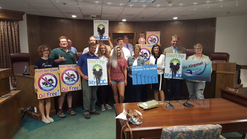 The Ocean City town council, Assateague Coastal Trust, Surfrider Foundation, Oceana, members of the Maryland Saltwater Sportfishing Association, seismic testing, BOEM, offshore driling in the atlantic ocean
