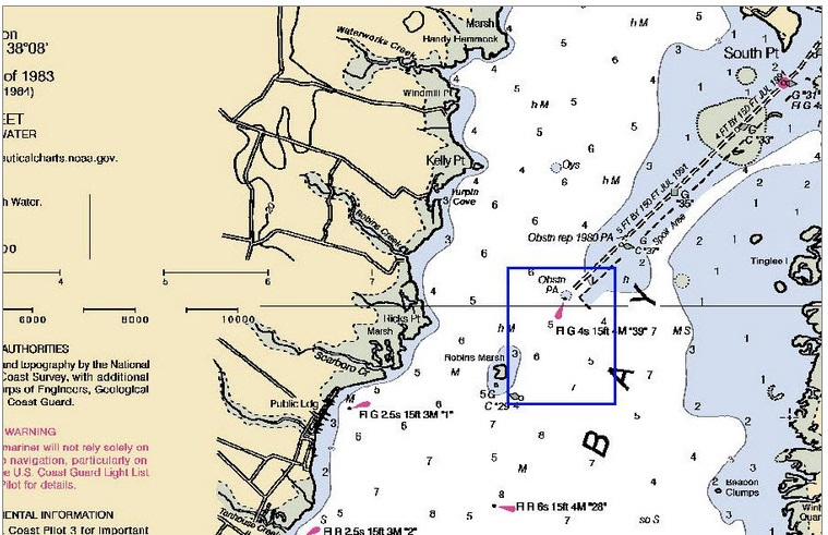 Warning to boaters in the sinepuxent bay near assateague for Fishing access near me