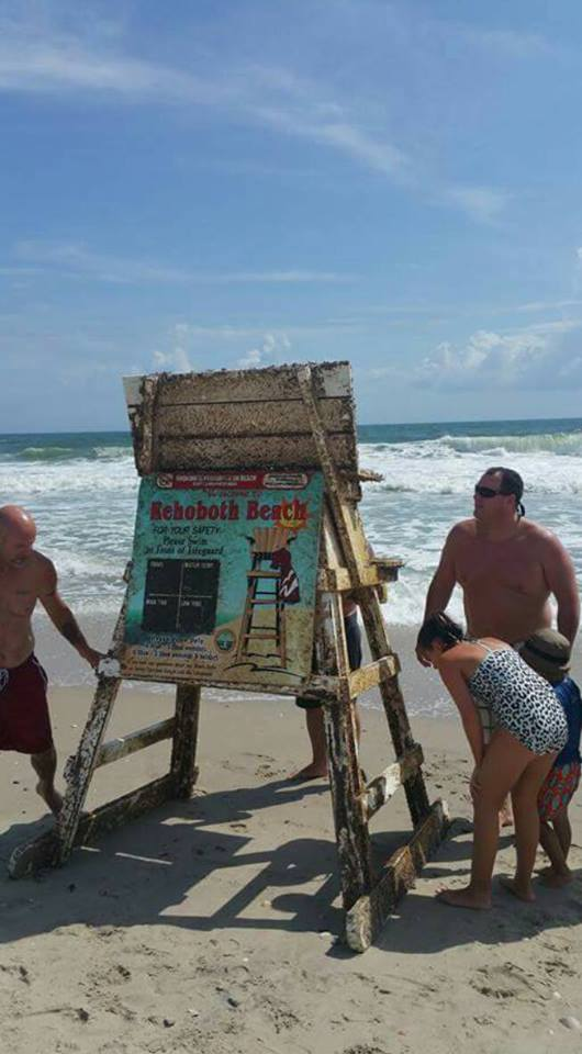 Last rehoboth lifeguard stand found in obx for Rehoboth beach fishing