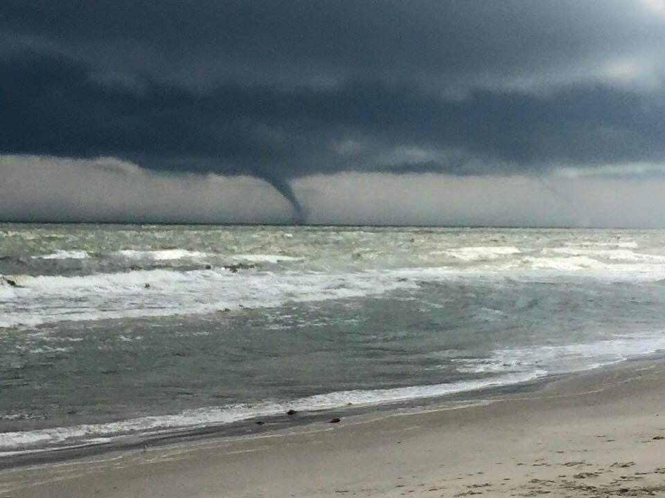 waterspout, maryland, wicomico county, assateague island, ocean city