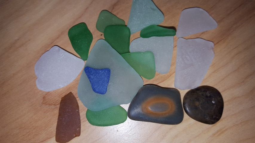sea glass, beach combing, delaware, sussex county