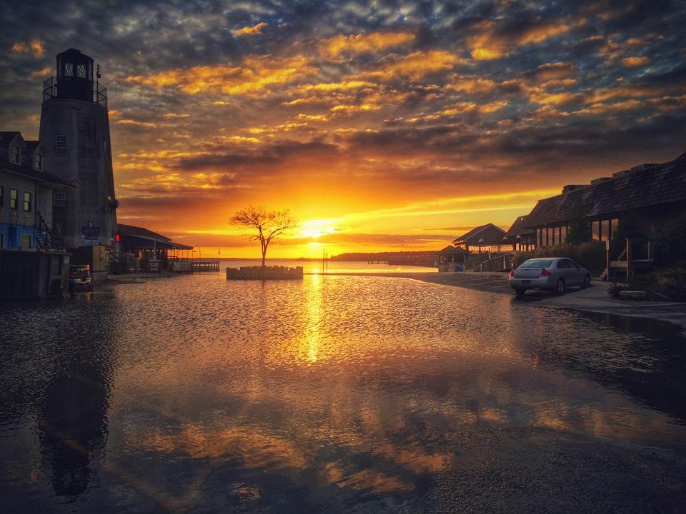 dewey beach, sunset, rudder town, rehoboth bay, inland bays,