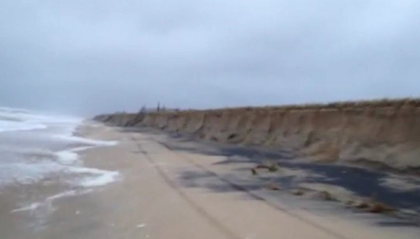 bethany beach, dune damage, delaware, sussex county, storm of 2015, noreaster