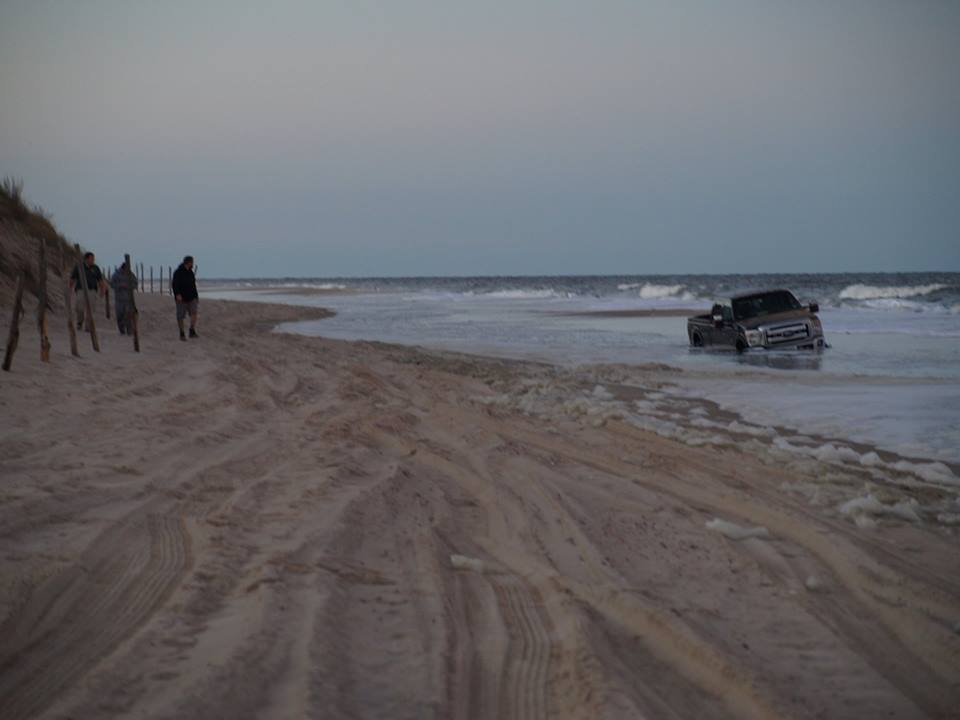 Do not drive through tide pools delaware surf for Fishing in delaware