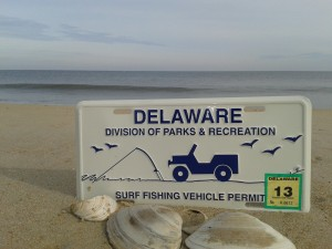 Delaware State Park's Surf Fishing Access Tag, ORV access