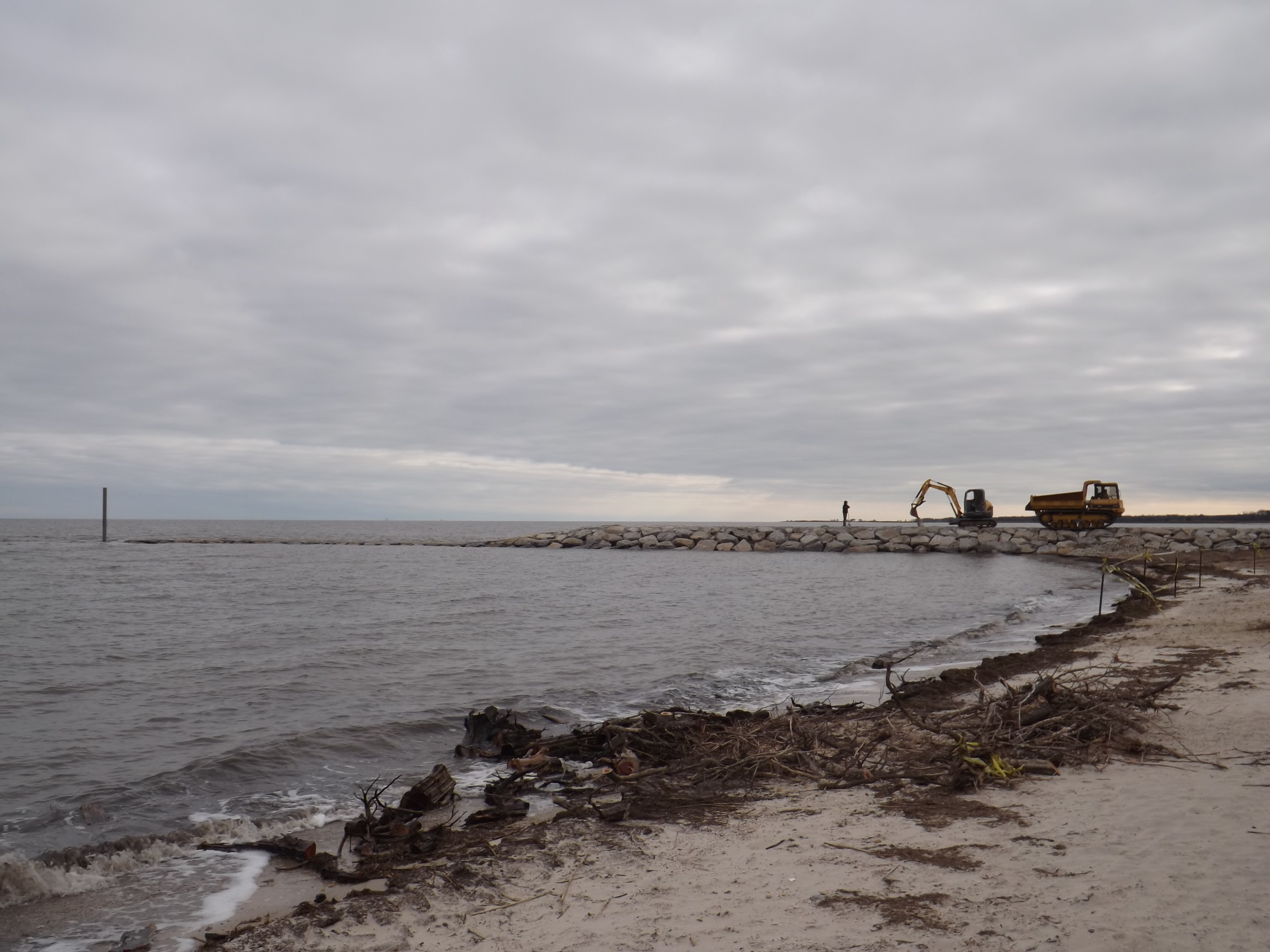 Bowers beach, jetty project, murderkill river, delaware, kent county