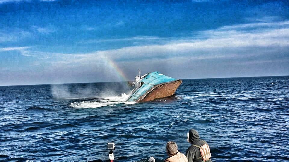 Dnrec sinks ex army navy ship shearwater delaware surf for Fishing in delaware