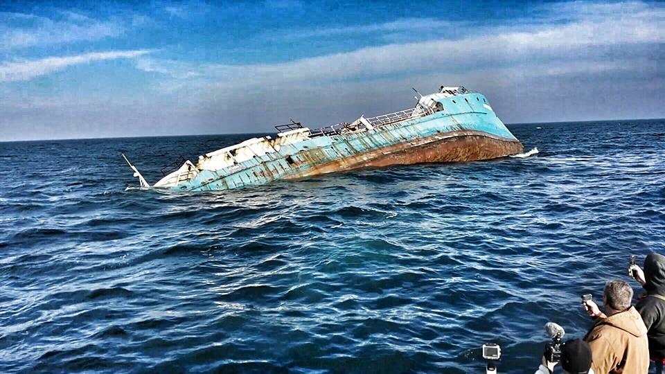 Dnrec sinks ex army navy ship shearwater delaware surf for Delaware surf fishing