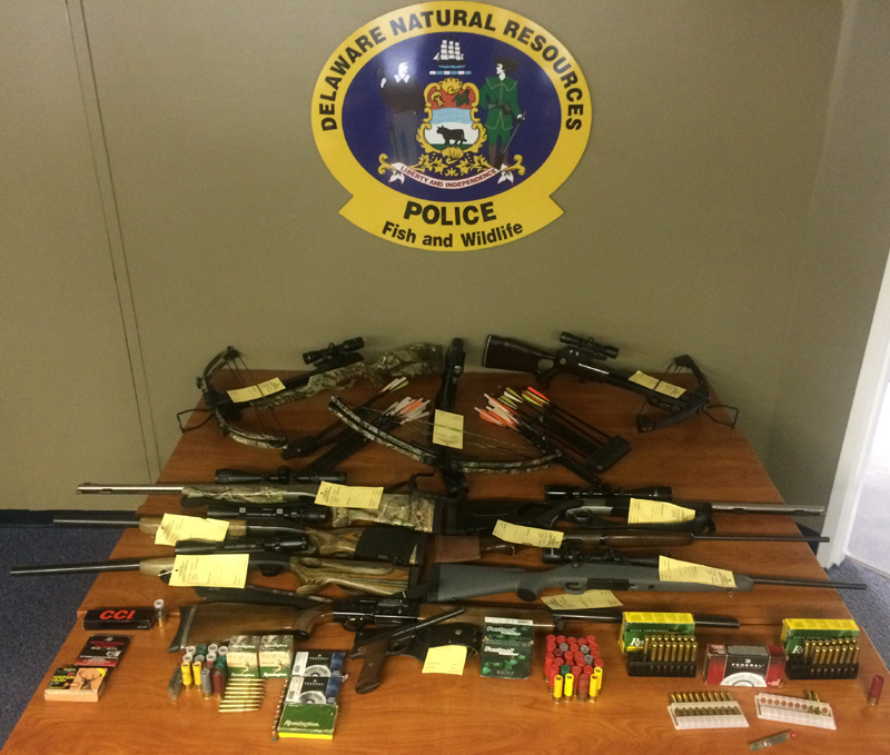 DNREC enforcement division, illegal guns, delaware, sussex county