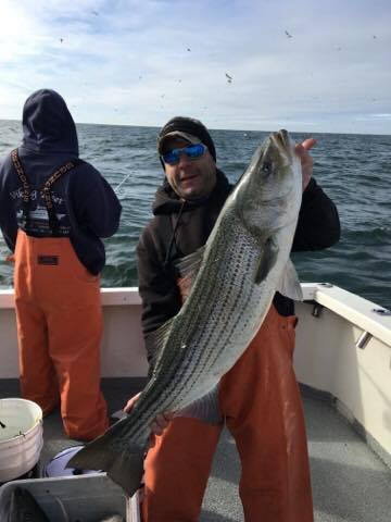Stripers still hitting in jersey delaware surf for Surf fishing for stripers
