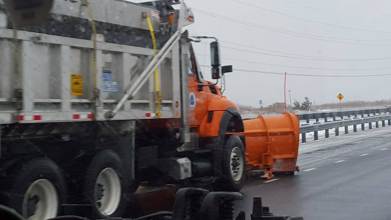 DelDOT Snowplow on route 1, sussexcounty, snow removal. delaware