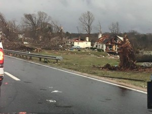 Image from Matthew Duty and Darrell Manning storm damage in Appomattox County ... photo from WTVR CBS 6 News