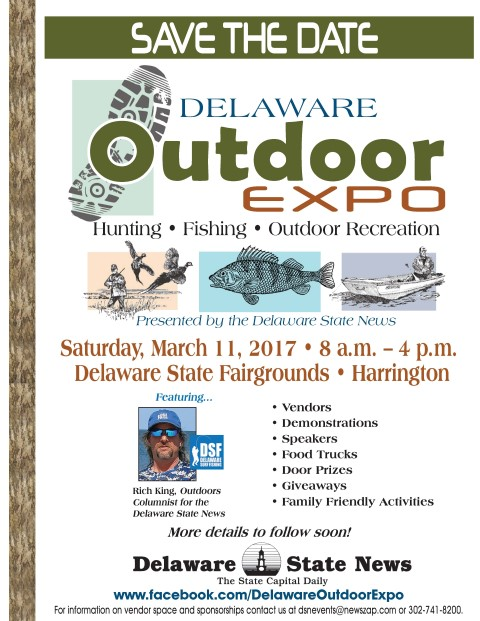 Delaware Outdoor Expo 2017, kentcounty, harrington, state fair grounds, rich king