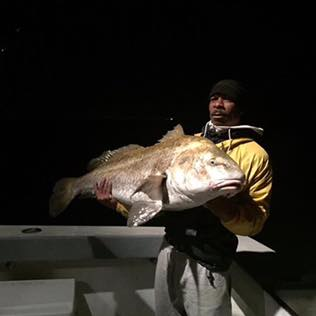 delaware bay, black drum, clams, sussex county, night fishing,