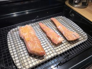 gator bluefish, fish drying rack